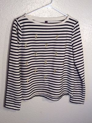 Brand New Golden Accent Stripe Women's Betsey Johnson Performance 3/4 Sleeve Top Sweater Tunic in package - size M-L for Sale in Austin, TX
