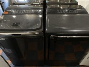 SAMSUNG SMART CARE TOP LOAD WASHER AND DRYER SET for Sale in Industry, CA