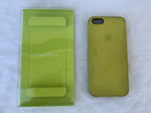 Apple iPhone 5/5s/SE leather case, yellow for Sale in Carlsbad, CA