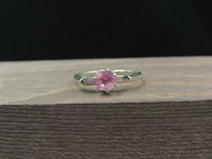 Size 6.25 10K Gold Round Pink Topaz Gem Band Ring Vintage Estate Wedding Engagement Anniversary Gift Idea Beautiful Elegant Unique Cute for Sale in Lynnwood, WA