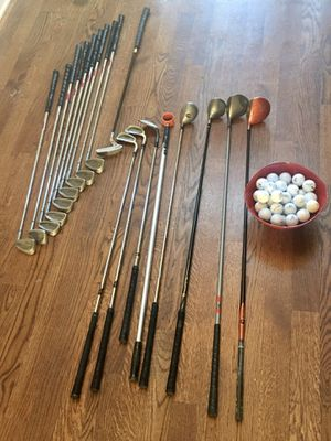 17 golf clubs and 41 golf balls for Sale in Murfreesboro, TN