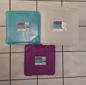 12 x 12 Iris Scrapbook Containers Vinyl Paper Storage for Sale in Orlando, FL