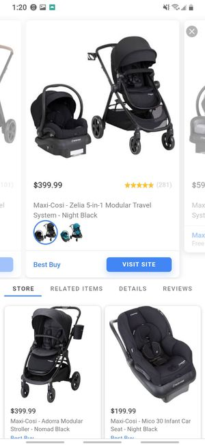 Maxi cozi baby car seat with car seat holder and stroller for Sale in Springfield, OR