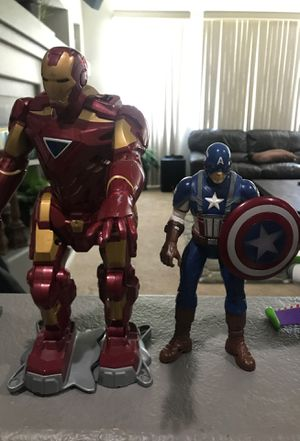 """Iron man toy 13"""" and captain America toy for Sale in Las Vegas, NV"""