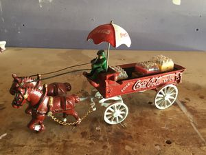 Vintage Coca Cola Horse-Drawn Delivery Cart for Sale in Benicia, CA