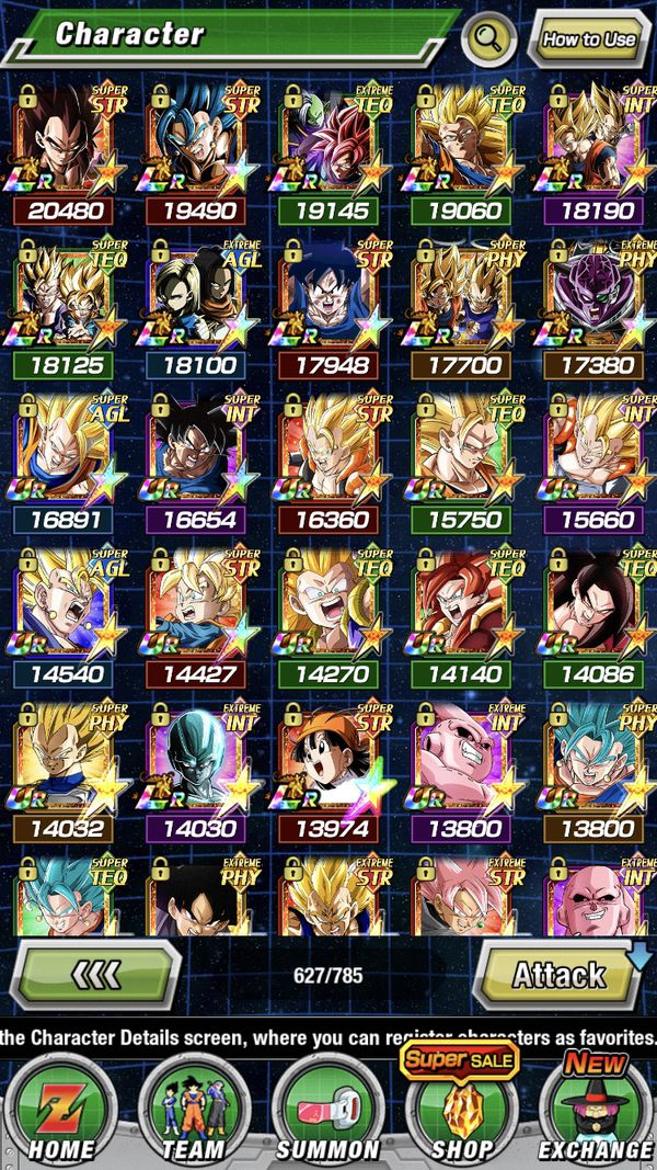 Dokkan Account for the low level 319