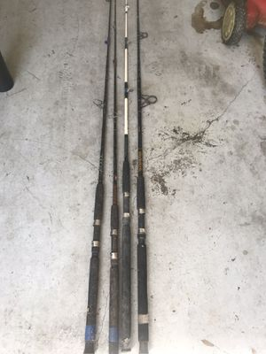 4 fishing rods for Sale in Tampa, FL