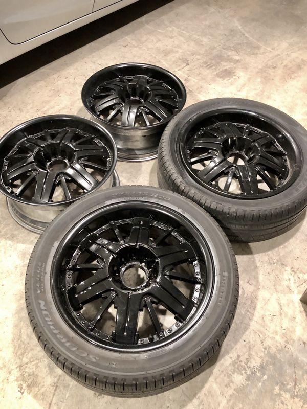 Beautiful 20 Inch Gloss Black Rims!