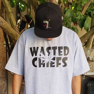 Wasted Chief Black and Light Grey FreeHand Font Weed Leaf for Sale in Montebello, CA