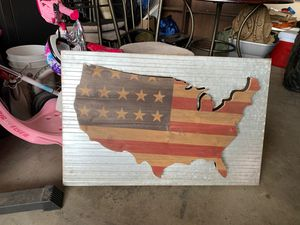 USA metal home decor sign for Sale in Victorville, CA