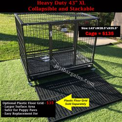 """New Heavy Duty 43"""" XL Collapsible Stacking Dog Cage Kennel Crate Raised Floor for Sale in Riverside,  CA"""