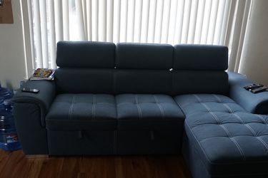 Sectional Sofa Bed Sleeper With Storage Chaise for Sale in Oakland,  CA