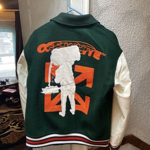 Off White Varsity Jacket Sz Xl for Sale in Alsip, IL
