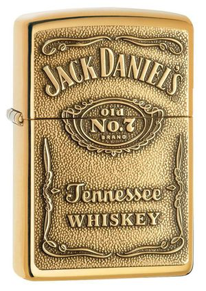 Zippo jack Daniel's Tennessee whiskey emblem high polished brass 254bjd428 for Sale in Los Angeles, CA