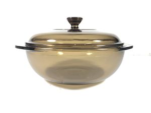 Pyrex Corning Ware 1.5L Amber Glass Dutch Oven Roaster Casserole Pot w/ Lid for Sale in San Antonio, TX