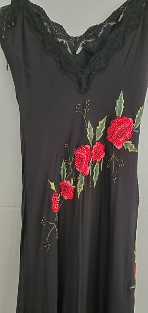 Silk dress red and black size 2 for Sale in Boca Raton, FL