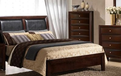 BEAUTIFUL EMILY MERLOT BDRM SET. WAREHOUSE BDRM BLOWOUT SALES EVENT!!! SAME DAY DELIVERY! NO CREDIT CHECK FINANCING $49 DOWN! for Sale in St. Petersburg,  FL