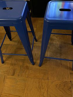 "2 blue stools (24"") for Sale in Washington,  DC"