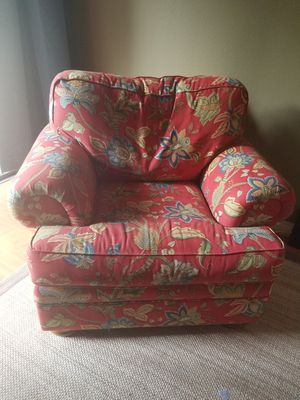 Large, gorgeous chair with ottoman: PICK UP ONLY for Sale in Phillips Ranch, CA