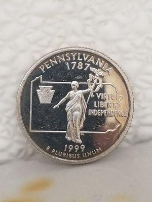 1999-S 90% Silver Pennsylvania Statehood Quarter for Sale in Dallas, TX