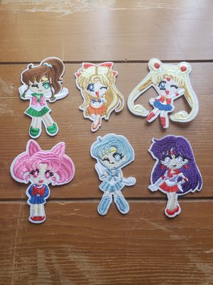 Sailor Moon 6 patch set new Iron on for Sale in Los Angeles, CA