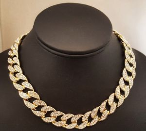 "14K Yellow Gold or Silver Plated Mens Brass Cubic Zirconia 18"" or 20"" Cuban Choker Chain for Sale in Las Vegas, NV"