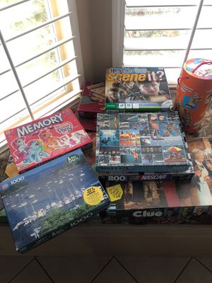 Various puzzles and board games for Sale in Henderson, NV