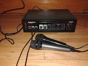 RadioShack Amplifier and Two Microphones for Sale in Aurora, IL