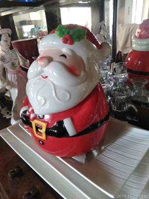 Ceramic Santa Cookie Jar Sleigh Bell for Sale in Clovis, CA