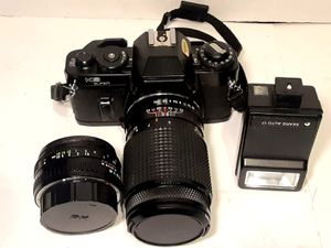 SEARS KS SUPER SLR 35MM FILM CAMERA w/2 LENSES 50mm, 135mm Zoom, Bag for Sale in Bakersfield, CA