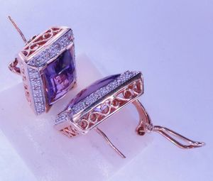 Amethyst diamond earrings for Sale in Atlanta, GA