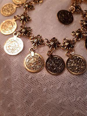 COIN BRACELET/ANKLET , GOLD IN COLOR for Sale in Pompano Beach, FL