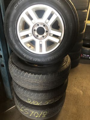 Set 4 rims and tires 18 inch 6lugs Ford F-150 for Sale in Tampa, FL