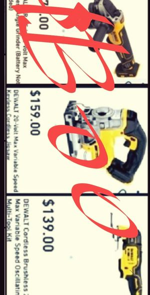 3 FOR 3, DEWALTS XR BRUSHLESS POWER TOOLS, ( 3 FOR 300 TOOLS ONLY). for Sale in San Diego, CA