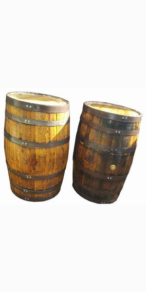 Rustic oak whiskey wine barrel for decor restaurant sports bar smoke shop tiki hut patio backyard furniture for Sale in Miami Springs, FL