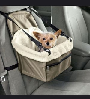 Dog car seat dog bag stroller waterproof portable car pet booster seat with clip on safety leash and zip storage pocket for Sale in Los Angeles, CA