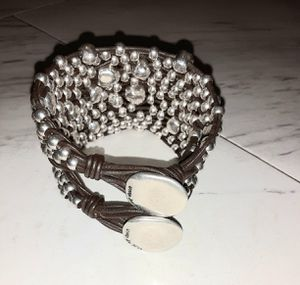 Uno de 50 leather and silver bracelet for Sale in Dallas, TX