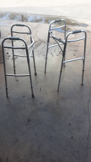 Two Walkers and a pair of crutches for Sale in Houston, TX