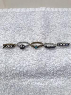 Ladies Five Multi Style Ring's Size 7 for Sale in Shepherdstown, WV