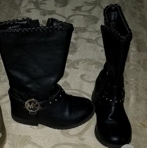 Size 8 1/2 Michael Kors black boots fits toddler for Sale in Montclair, CA