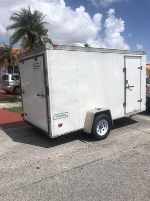 TRAILER 6x12 V-Nose enclosed trailer Halmark for Sale in Miami, FL
