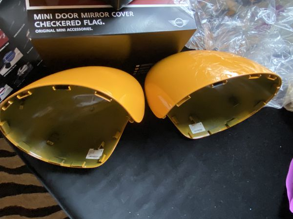 NEW OEM Mini Cooper Volcanic Orange 2014 Mirror Covers