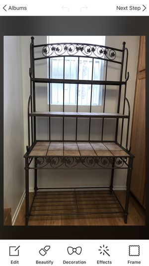 NWOT Bakers Rack With Removable Tiles 4 Tiers for Sale in Santa Clarita, CA
