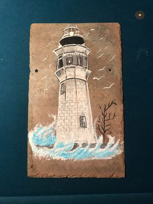 Light house painted on slate approximately 12x18 for Sale in Martinsburg, WV