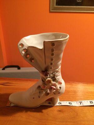 Decorative porcelain boot vase for Sale in Alexandria, VA