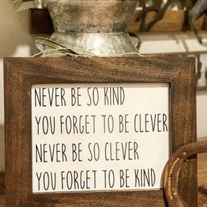 Never be so kind wooden sign for Sale in Corona, CA