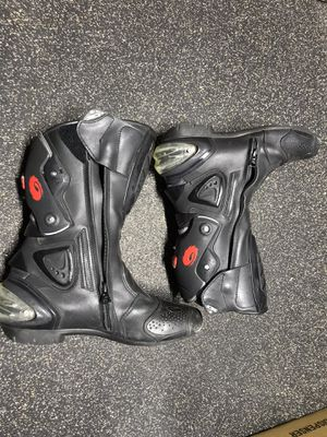 SIDI MOTORCYCLE track race boots 47 men's gear ankle support toe sliders for Sale in Langhorne, PA