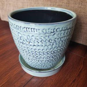 "5.5"" aqua blue green ceramic flower pot for Sale in Hacienda Heights, CA"