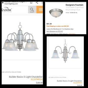 3 light fixtures chandelier lot for Sale in Fresno, CA
