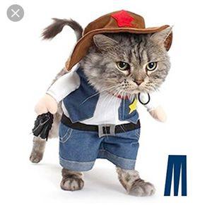 New pet walking cowboy sheriff western costume for Sale in Nashville, TN